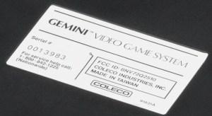 Coleco Gemini video game system