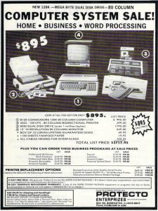 Commodore B-128 closeout ad