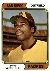 Most valuable baseball cards of the 1970s - Dave Winfield