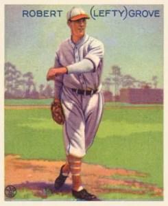 1933 Goudey baseball cards: Lefty Grove