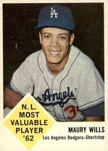 most valuable Fleer baseball cards - 1963 Maury Wills