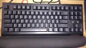 A quiet mechanical keyboard