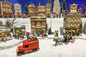 Christmas village set up tips - vehicles