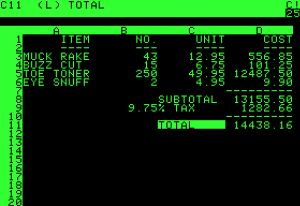 computers in 1980 - Visicalc