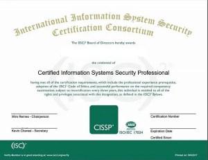 best certifications to get - CISSP