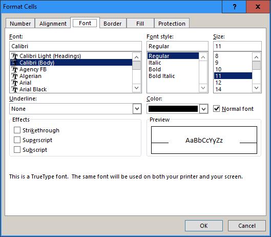 How to superscript in Excel