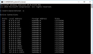 netstat foreign address