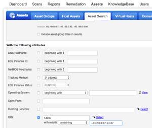 search by MAC address in Qualys