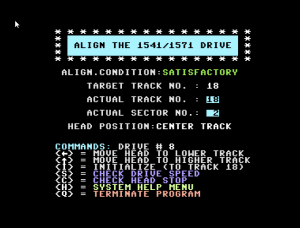 Commodore 1541 drive alignment