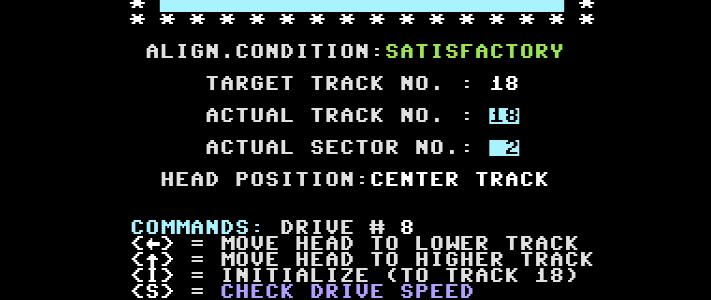 Align a Commodore 1541 disk drive