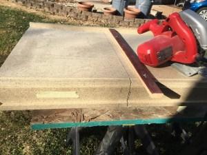best way to cut laminate countertops