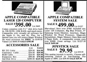 Laser 128 computer