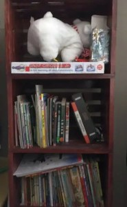 DIY wood crate shelves - finished