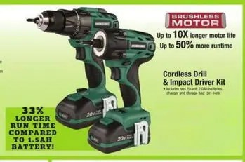Who makes Masterforce power tools for Menards?