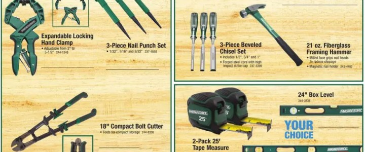 Who makes Masterforce hand tools for Menards?