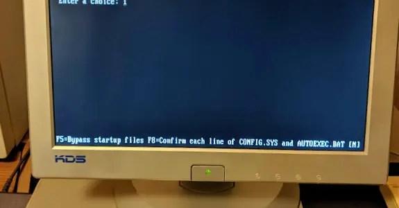 DOS boot menu explained