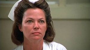 "Picture of actress Louise Fletcher as Nurse Ratched in ""One Flew Over the Cukoo's Nest"""