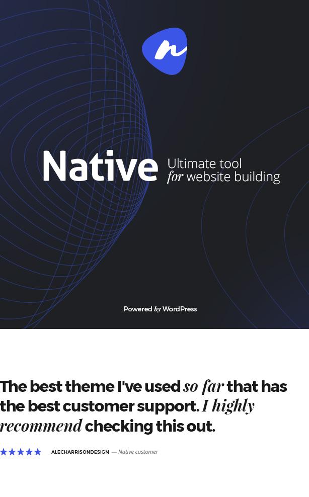 Native - Stylish Multi-Purpose Creative WP Theme - 6