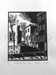 """Montréal rue Groll, 11-2003"". 4 x 5po. (10 x 12.7 cm)."