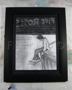 VENDU-SOLD .''Vertige,03-2010'',fusain-9x12po.