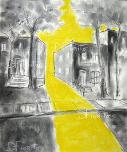 Rue jaune Mile End #3