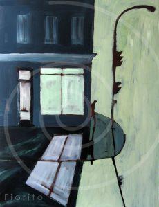 """""""Mile-End, 06-2012"""". Acrylique sur toile, 36 x 48 po. ( 91,4 x 121,9 cm)."""