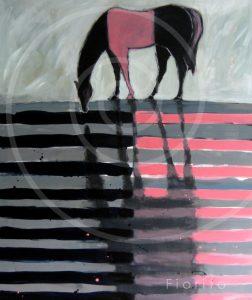 Cheval Rose et Noir