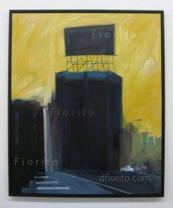 """""""Panneau avenue du Parc, 09-2013"""". Acrylique sur toile. 40 x 48 po. (102 x 122 cm)."""