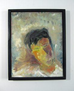 """""""Portrait d'un ami"""". 1997 . Huile sur toile 16 x 20 po. ( 40,6 x 50,8 cm)."""
