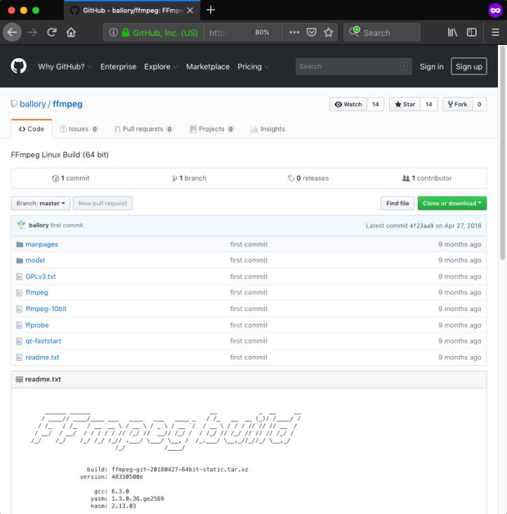 GitHub - ballory_ffmpeg