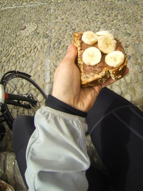 Muesli bread+Nutella+Banana