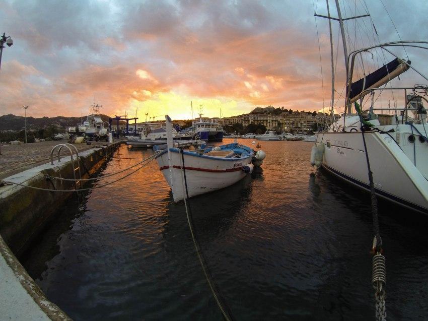 sunset in Calvi
