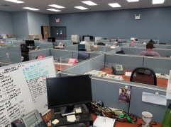 Delaware County Times newsroom — most are out reporting (Pennsylvania)!