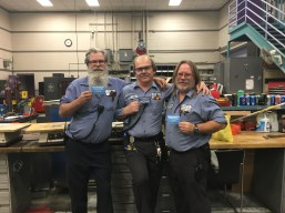 Denver Post machinists (L to R) Eriks Rumbergs, Joe Kandalec and Mike Charbonneau.