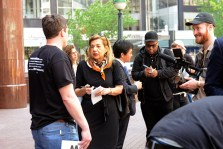 News media covering the NYC rally. Photo by Tania Barricklo