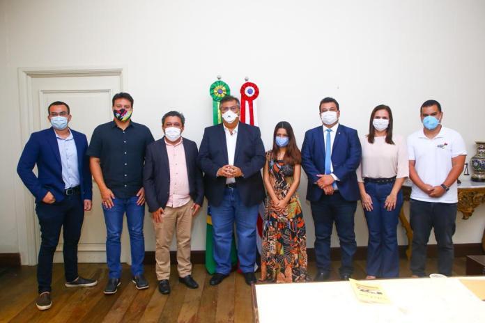 Reunião do Governo com a Prefeitura de Guimarães aconteceu no Palácio dos Leões (Foto: Gilson Teixeira)