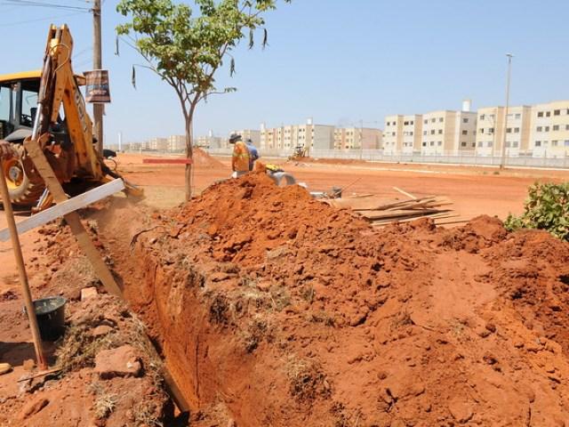 Avançam as obras de infraestrutura e urbanização no Riacho Fundo II