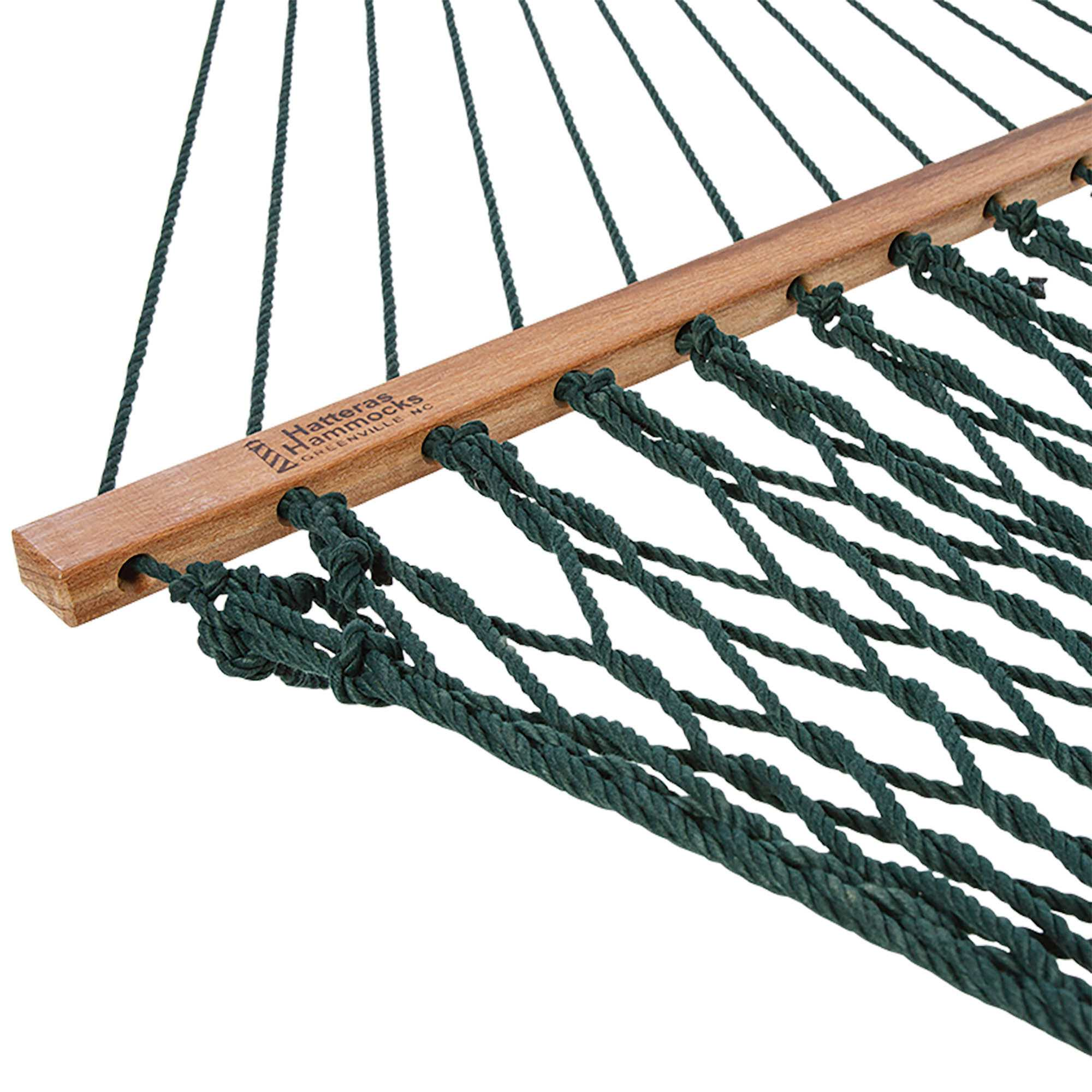 Deluxe Duracord Rope Hammock In Green