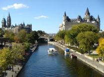 Rideau Canal in summer