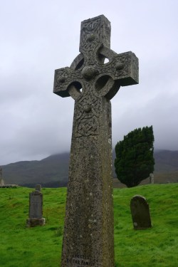 Celtic cross at Kilchrist Cemetary
