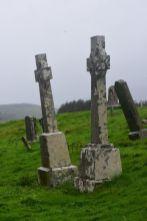 Celtic crosses at Kilchrist Cemetary