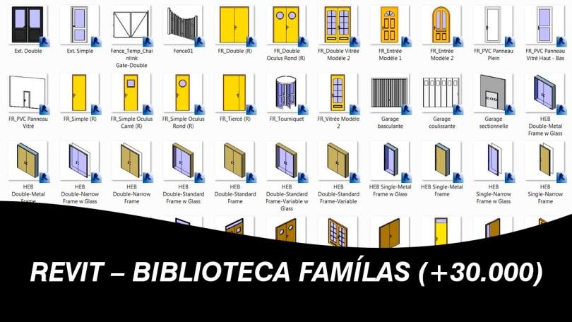 REVIT – BIBLIOTECA FAMÍLAS (+30.000)