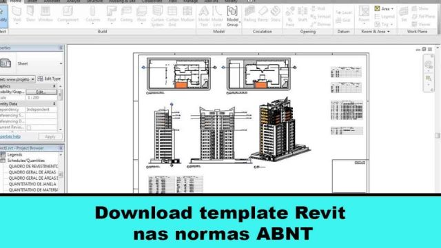 Download template Revit nas normas ABNT