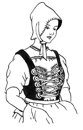 Line Drawing of a Bodice