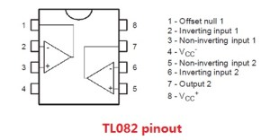 TL082 Pinout and Circuit Diagram  JFET Input OP AMP