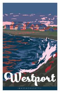 Gooseberry Island Westport Massachusetts Travel Poster