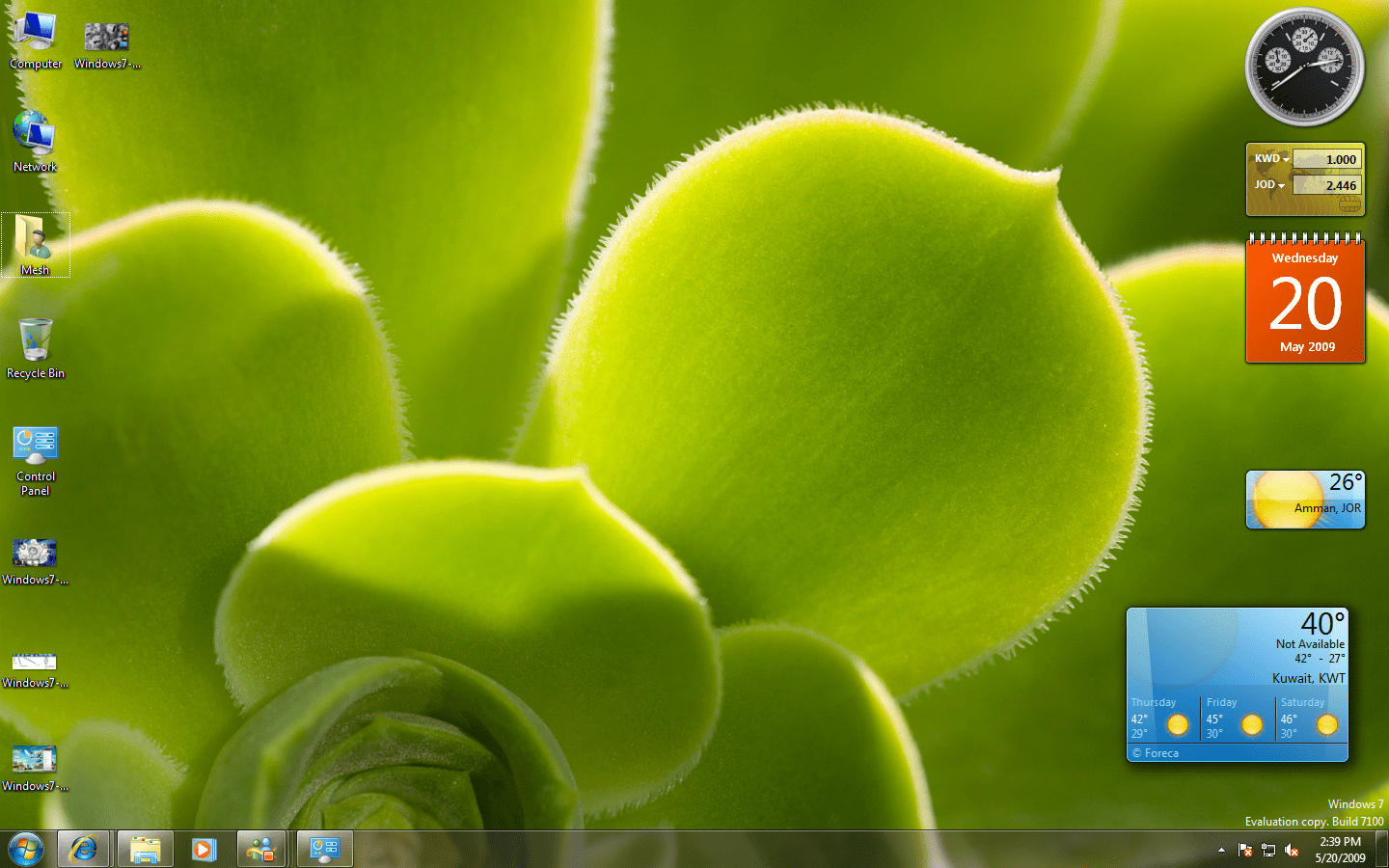 Windows 7 Screenshot - Mesh
