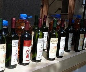 Georgian-wine-bottles