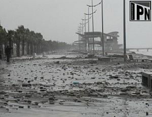 The storm has damaged Black Sea coast in Georgia (Photo: IPN)