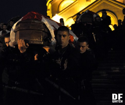 Funeral of the seven dead soldiers was held at Sameba on Sunday (DF Watch photo)